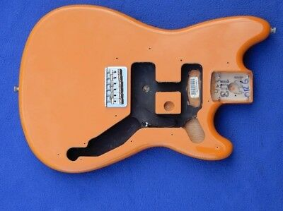 FENDER offset duo-sonic alder body in capri orange with pickguard and hardware