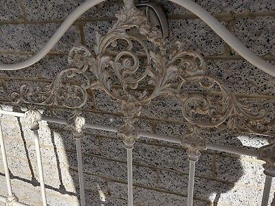 King Bedhead  and end French Provincial Style Iron Supporting side frame include