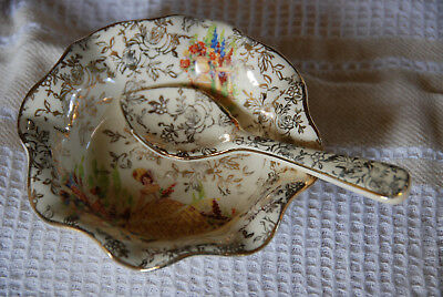 Empire shelton jam/butter dish and spoon