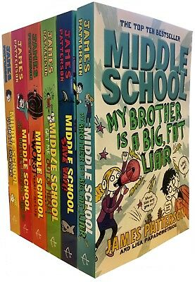 James Patterson Middle School 6 Books Collection Set Save Rafe,Ultimate Showdown
