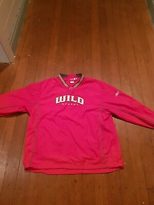 Nhl Minnesota Wild Players Wet Weather Training Track suit Top