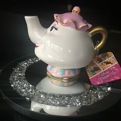 Primark Disney Mrs Potts Ceramic Money Box Beauty & the Beast Teapot Chip.