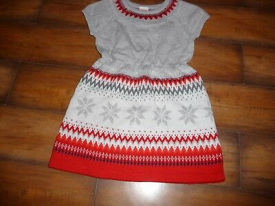 6d60e818748 Gymboree Girls Nwt North Pole Party Fair Isle Holiday dress Sweater  Snowflake 2t Clothing