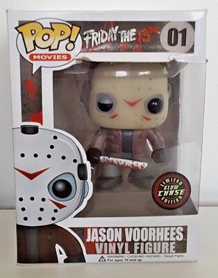 Jason Voorhees Funko POP! Chase #01 Glow In The Dark Limited Edition Friday 13th