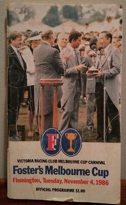 Fosters 1986 Melbourne Cup Official Race Programme Book Flemington VRC At Talaq