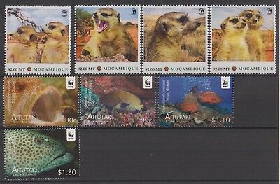 Beaux timbres Faune-WWF, neufs MNH, TB
