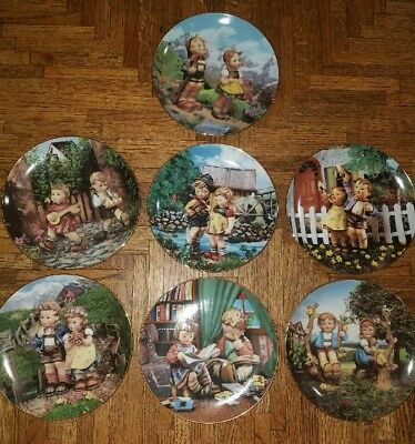 Lot of 7 MJ Hummel plates *Limited edition*