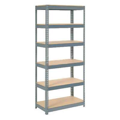 "Boltless Extra Heavy Duty Shelving 36""W x 12""D x 72""H, 6 Shelves, Wood Deck, Lot"
