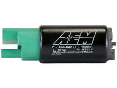 AEM 340lph E85-Compatible High Flow In-Tank Fuel Pump 65mm Offset Inlet #50-1220