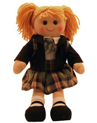 Lovely Soft Rag Doll Madison Dressed with a School Uniform Girl Dolly 38cm New