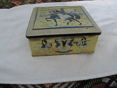Vintage decorative Tin Container made in Great Britain