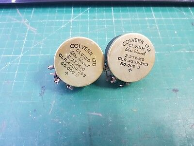 50K Wire wound Potentiometer Colvern Wire Wound Pot  EX MOD , 2pcs