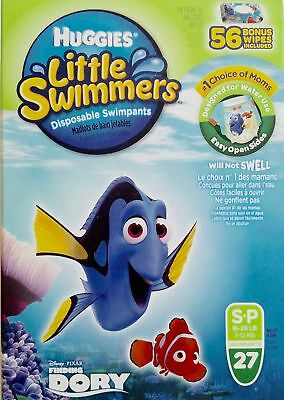 Huggies Little Swimmers Disposable Swimpants, Small, 27 Count - Bonus 56 Wipes