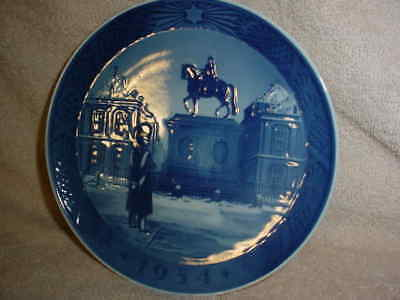 Royal Copenhagen Collector Plates 'Equestrian Statue & Sentry' 1954 2nd quality
