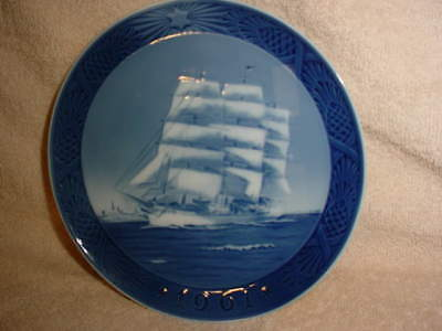 Royal Copenhagen Collector Plate  'The Training Ship' 1961  1st quality