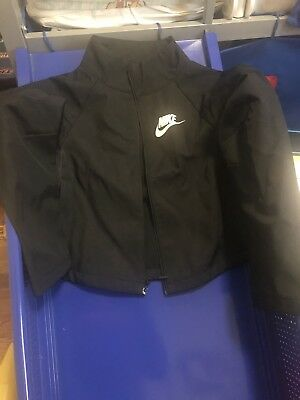 Girls Nike Fit Dry Black Athletic Zip Up Sweatshirt Jacket Thumbholes Sz M 8-10