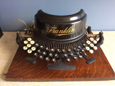 Very Rare Franklin No. 9 Typewriter - Original base & case - serial 18099