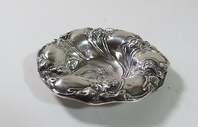 """Antique Unger Brothers Small Sterling Silver Bowl - Art Nouveau - 3 1/2"""" dish"""