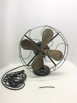 Early 1900 Westinghouse Brass Blade And Brass Cage Electric Fan last pat 1893