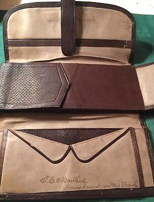 Antique Leather Wallet 1878- Nice