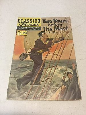Classics Illustrated 25 Two Years Before The Mast Comic.