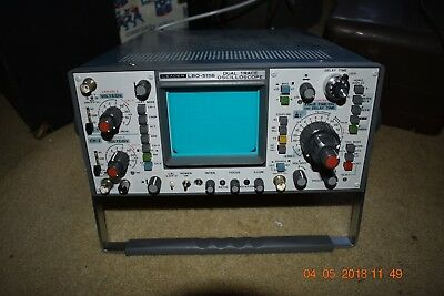 Leader Oscilloscope Lbo-515B Delayed Sweep Dual Trace One Owner - Original Box.