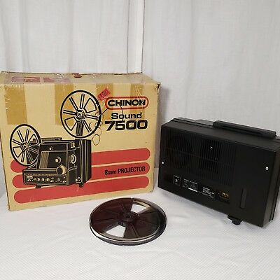 Vintage Chinon Sound 7500 Super 8 Movie Projector 8mm Original Box Japan