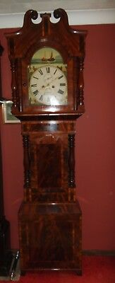 Fine Quality 19thC Inlaid Flame Mahogany 8 Day Longcase Clock, Exquisite Case