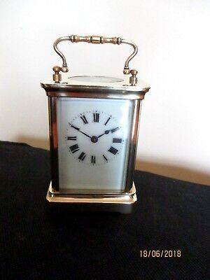 Cute Antique Brass French Carriage Clock.