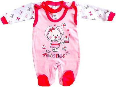 BNWT Baby Infant Girls 2 Pieces Set Outfit 100% COTTON Newborn/3-6 Months