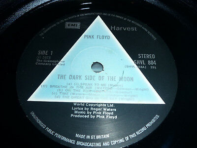 PINK FLOYD DARK SIDE OF THE MOON 1st UK PRESS 1973 SOLID BLUE TRIANGLE PRISM LP