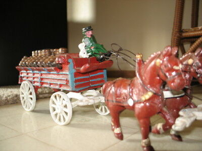 Vintage Horse And Wagon, Cast Iron