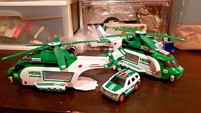 TWO 2x HESS 2012 Helicopter and Rescue No Original Box N130 + ONE 1x Cruiser NR