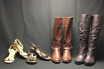 Lot 3 Womens 7.5 Shoes And Boots Inc. New Direction / Unisa/  Privo Clarks