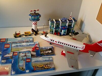 Lego City Airport 3182 And 3177 With Instructions Passenger Plane