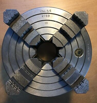 """Bison 8""""4-jaw independent chuck 4344 8/4 camlock D1-4"""