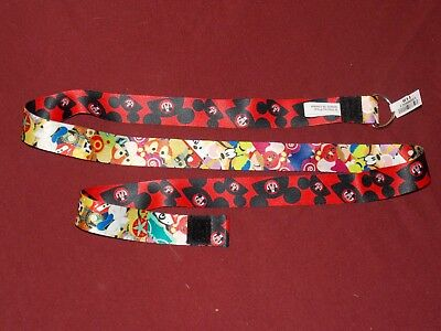 Authentic Disney Parks Character Pin Trading Mickey Mouse Hat Lanyard New