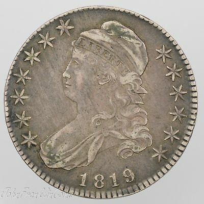 """1819 50c Capped Bust Half Dollar """"Lettered Edge"""" XF /W-098"""