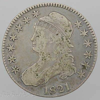 "1821 50c Capped Bust Half Dollar ""Lettered Edge"" Fine+ /W-099"