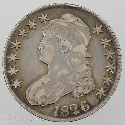 "1826 50c Capped Bust Half Dollar ""Lettered Edge"" XF /W-100"