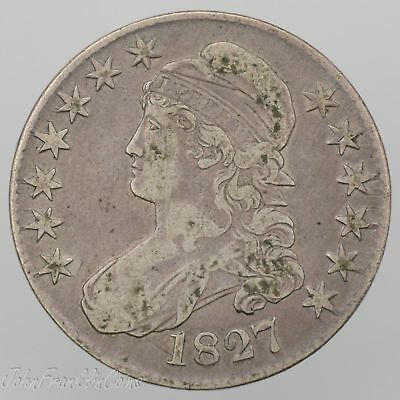 "1827 50c Capped Bust Half Dollar ""Lettered Edge"" VF /W-101"