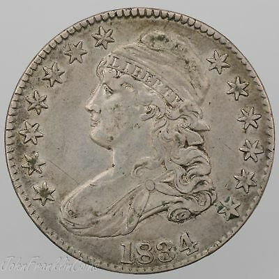 "1834 50c Capped Bust Half Dollar ""Lettered Edge"" XF/AU /W-102"