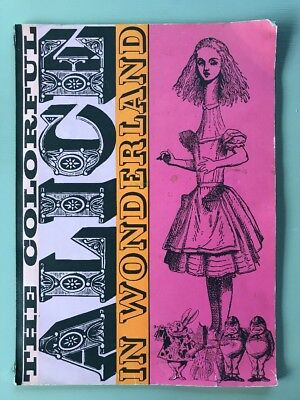 Vintage The Colorful Alice in Wonderland Coloring Paint Book 1961 Oversized