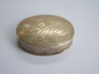 Metal Detecting Find ,,sterling Silver Box,,