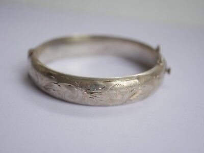 Metal Detecting Find ,,sterling Silver Bangle,,