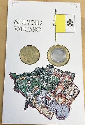 2001 Vatican Pope Paul 200 and 1000 Lire