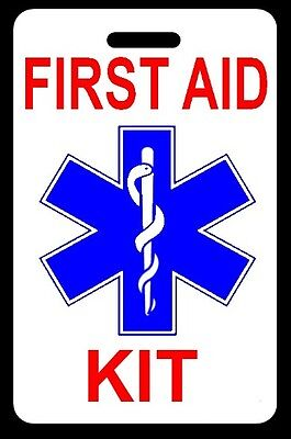 FIRST AID KIT Bag Tag - FREE Personalization - New