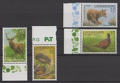 Luxembourg 2002 Timbres modernes Buzin, neufs MNH, TB
