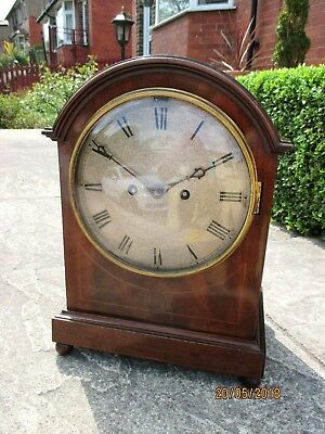 Old Double Fusee Chiming 8 Day Mantel Clock , circa 1890s,