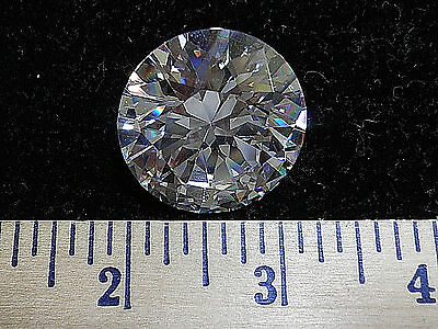 Rare HUGE Round CZ  Table Top Gem.  156 ctw 30x30x17mm   NWOT G6813